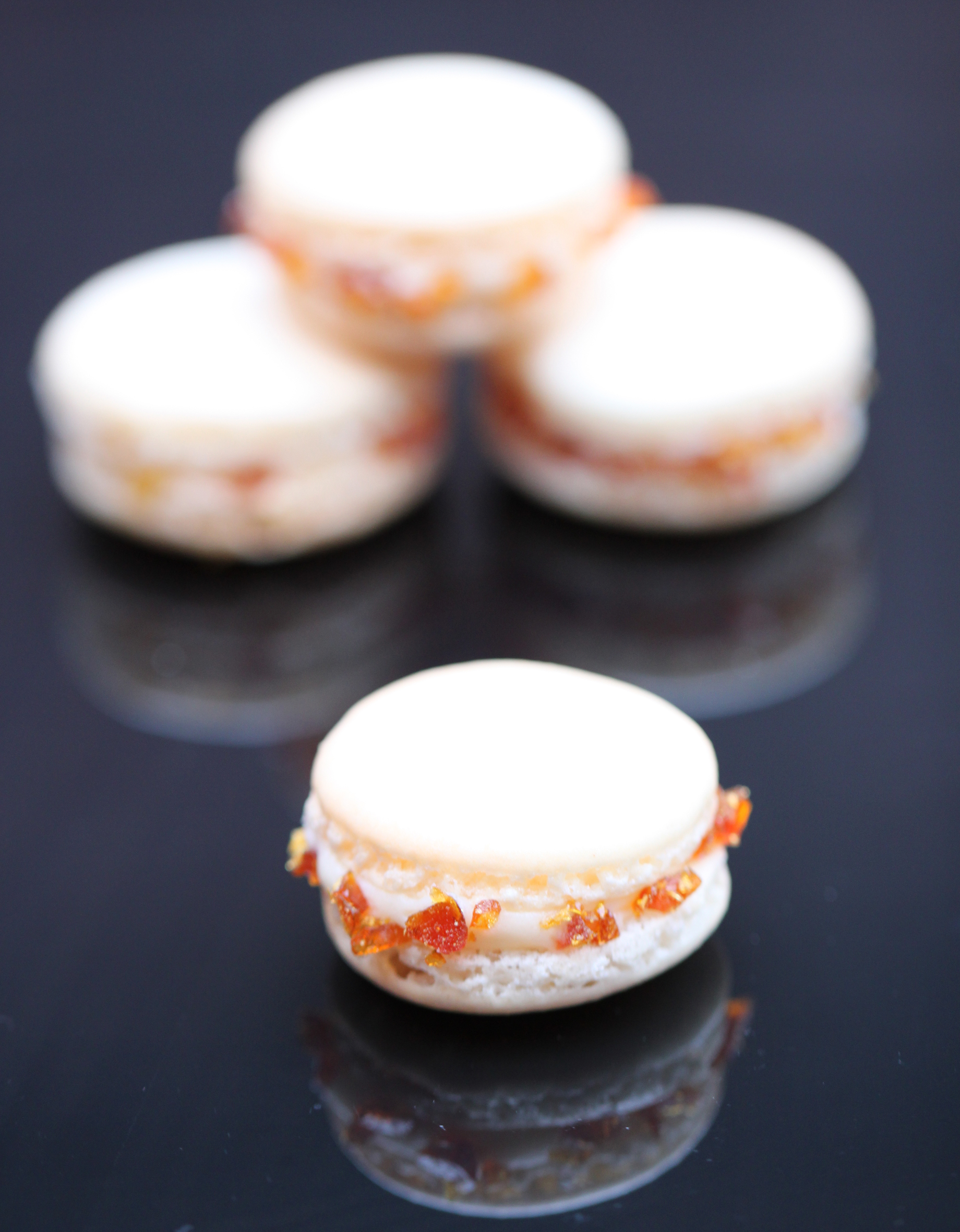 Crème Brûlée flavour macaron. They are just like the real thing but ...